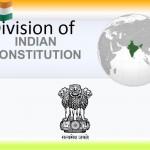 Division of Indian Constitution IAS UPSC