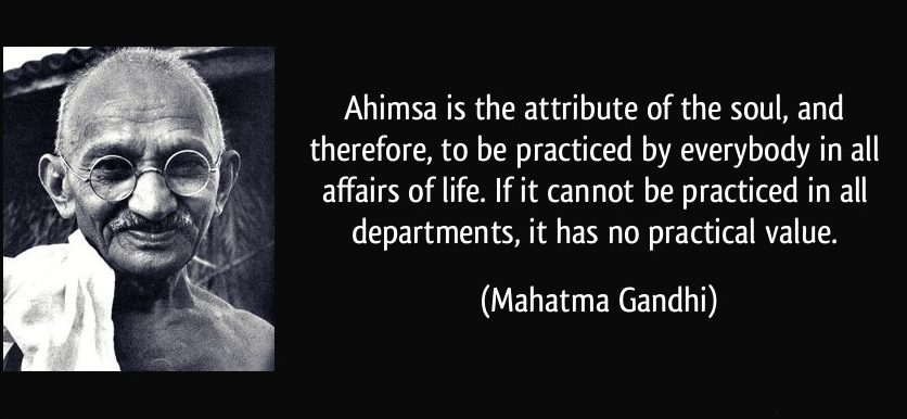 essay about ahimsa An article / essay on jainism – an indian religion the highest from of 'ahimsa' is practiced by here you can publish your research papers, essays.