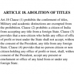 Abolition of Titles - Article 18 IAS UPSC