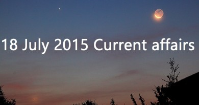 18 July 2015 Current affairs
