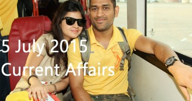 5 July 2015 Current affairs