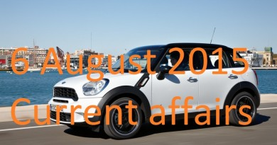 6 August 2015 Latest Current affairs News