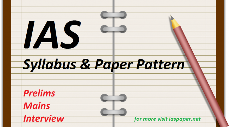 IAS Syllabus and Paper Pattern