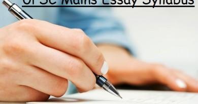 Essay Syllabus - Civil Service Exam UPSC Mains Paper 1