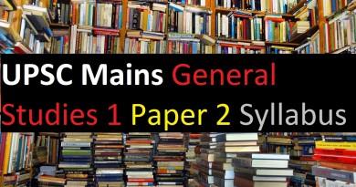 UPSC Mains Exam - General Studies 1 Paper 2 Syllabus Civil Service