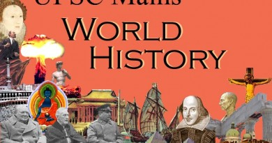 Studying World History for UPSC Mains Exam Civil Service