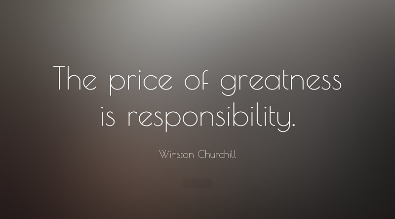 Responsibility Is The Price of Greatness (Inspirational Quotes)