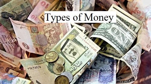 types of money Some money is fiat money, meaning that it has no intrinsic value that is, the paper or metal used to create the money is not worth very much in terms of its value as a raw material most paper money is fiat money, and its value comes from what it represents rather than what it is.
