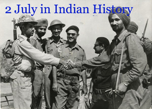 Day in Indian History : 2nd July