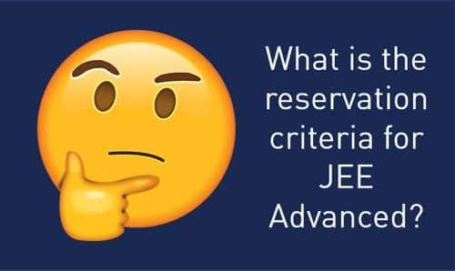 IIT JEE Reservation Seats