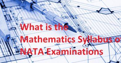 What is the Mathematics Syllabus of NATA Examinations