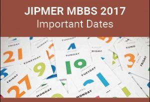JIPMER Important Date for MBBS