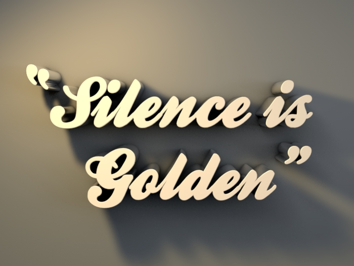 speech is silver  silence is golden   Wiktionary
