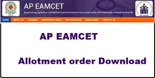 AP PGECET Allotment Order