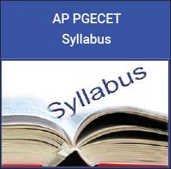 AP PGECET Syllabus