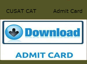 CUSAT Admit Card