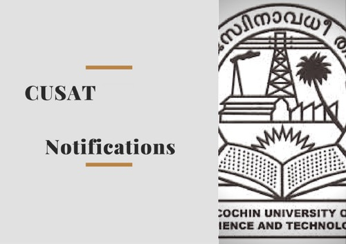 CUSAT notification