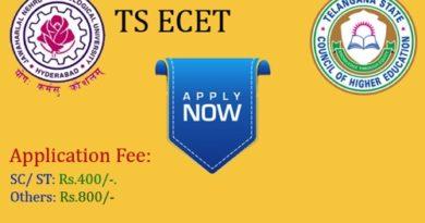 TS ECET Online Application