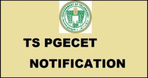 TS PGECET Notification