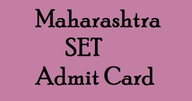 MHSET Hall Ticket
