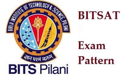 bitsat exam pattern