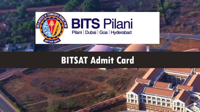 bitsat hall ticket