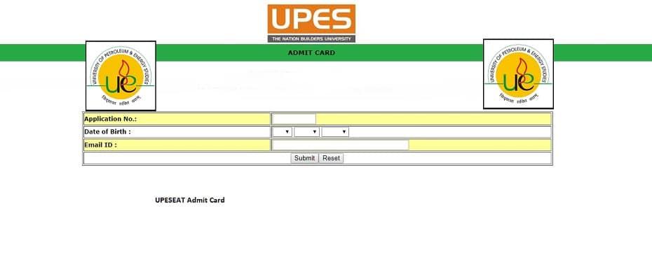 UPESEAT Admit Card