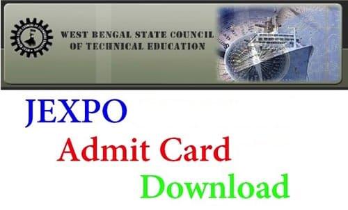 JEXPO Admit Card