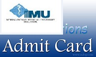 IMU Admit card