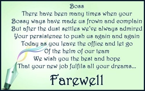 farewell speech for boss on transfer or retirement in english hindi