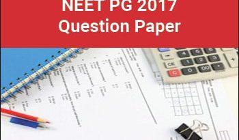 NEET 2017 question paper