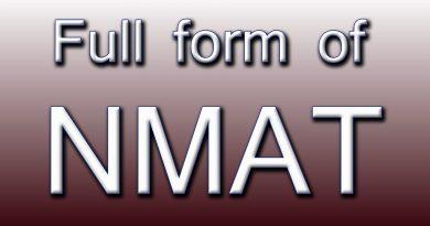 NMAT Full Form