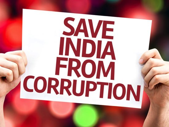 slogan on corruption society in english and hindi