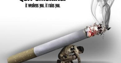 Slogan on No Smoking