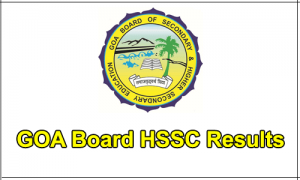Goa HSSC (12th) Result 2019