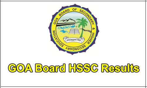 Goa HSSC (12th) Result 2019
