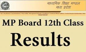 MP Board 12th Result 2019
