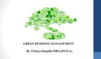 M.B.A. Green Business Management