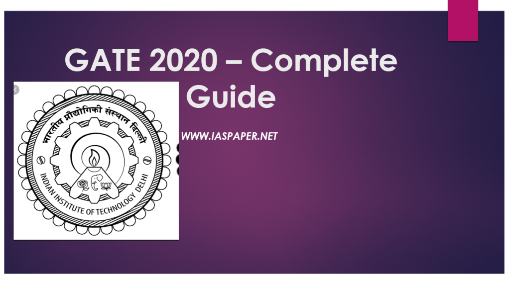 GATE 2020: IIT Aptitude Test, Application (Started), Dates